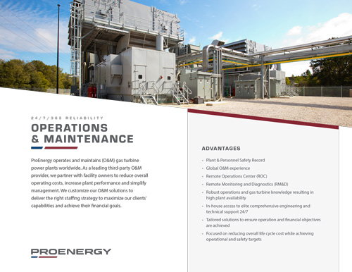 Operations & Maintenance Tear Sheet